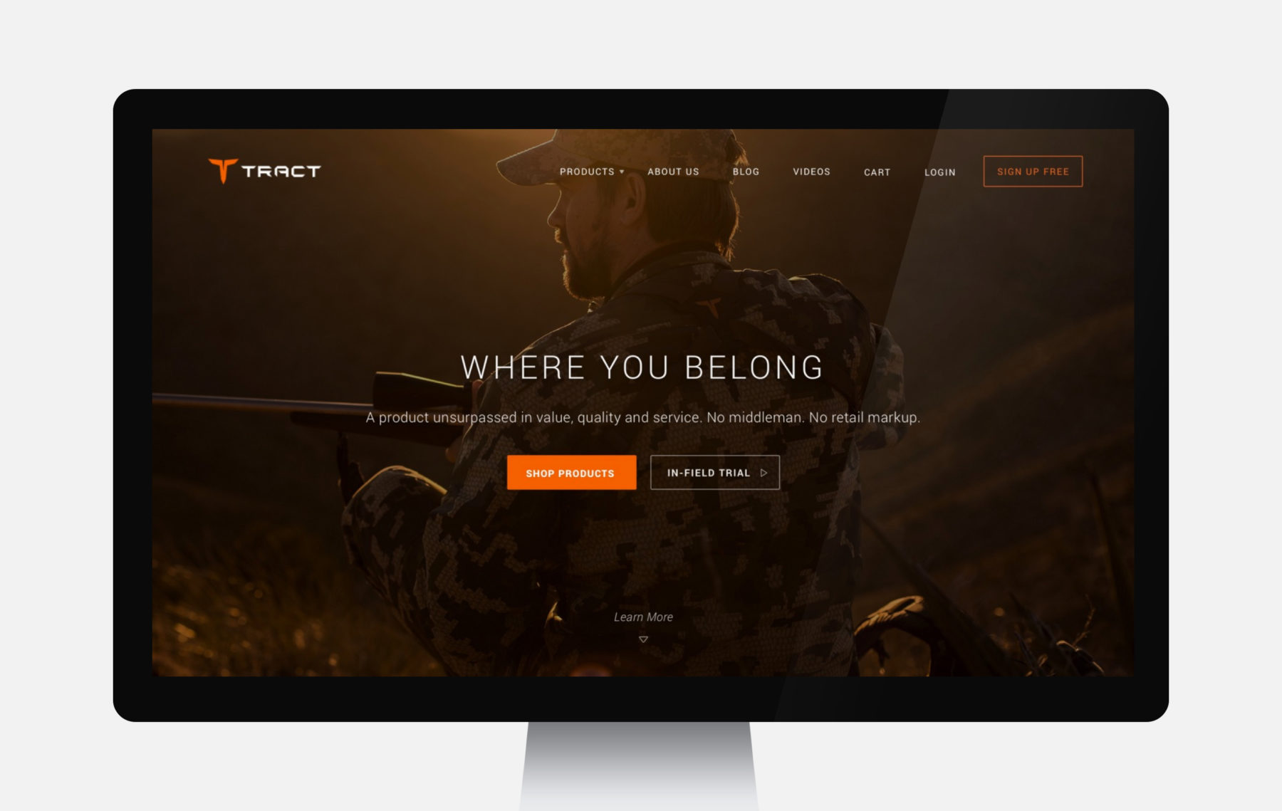 Tract Computer Web Design Full Width