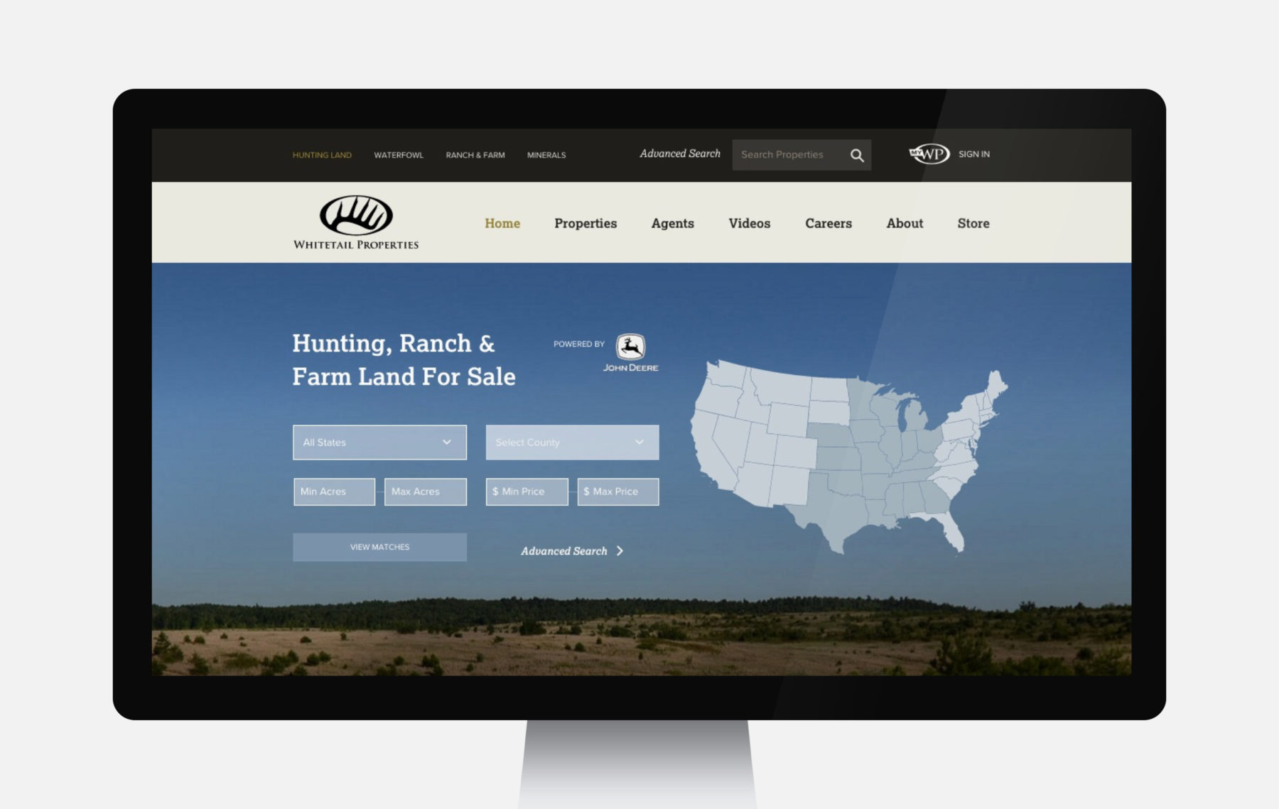 Whitetail Properties Web Design Full Width